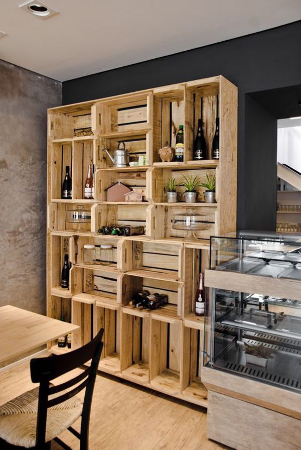 decoração com paletes e caixotes cozinha