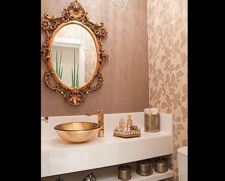cuba para banheiro metalizada