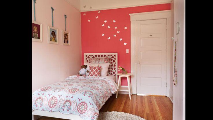 quarto de menina coral