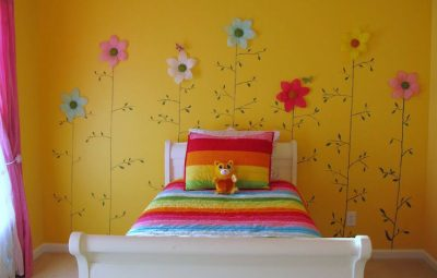 quarto de menina amarelo