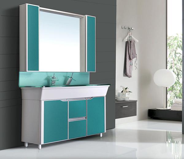 espelho de banheiro verde
