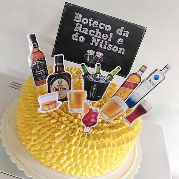 topper de bolo festa de boteco