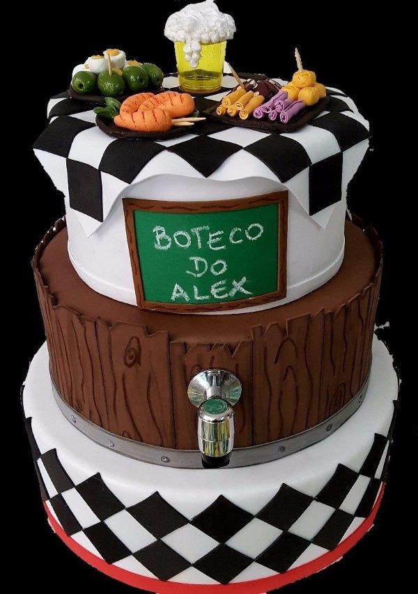 bolo fake festa de boteco