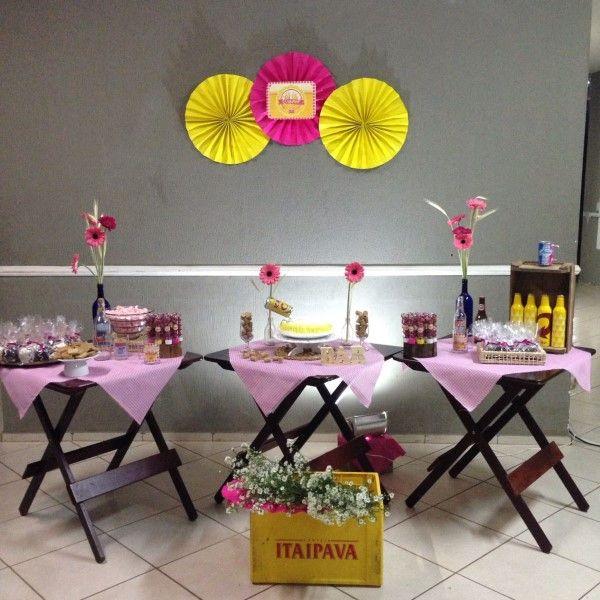 festa de boteco cor rosa