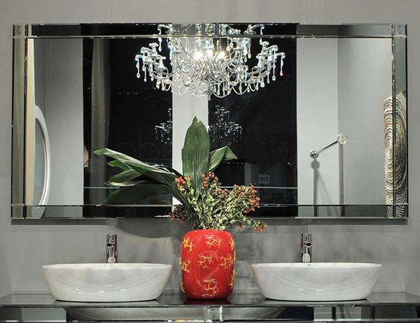 espelho de banheiro chique