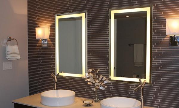 espelho de banheiro duplo