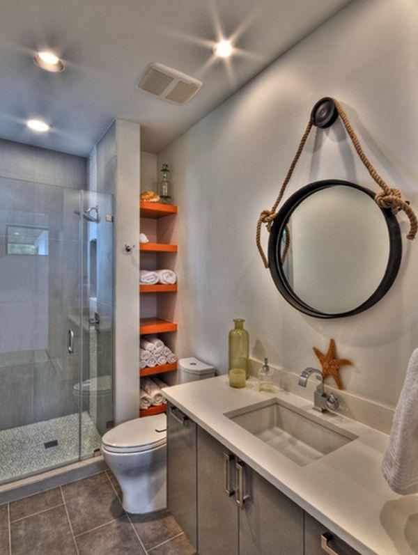 espelho de banheiro com corda