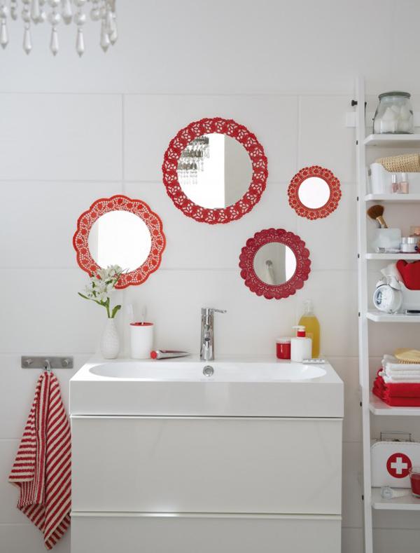 espelho de banheiro com moldura