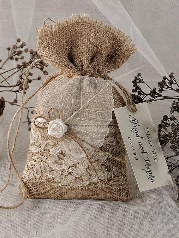 decoração com juta saco