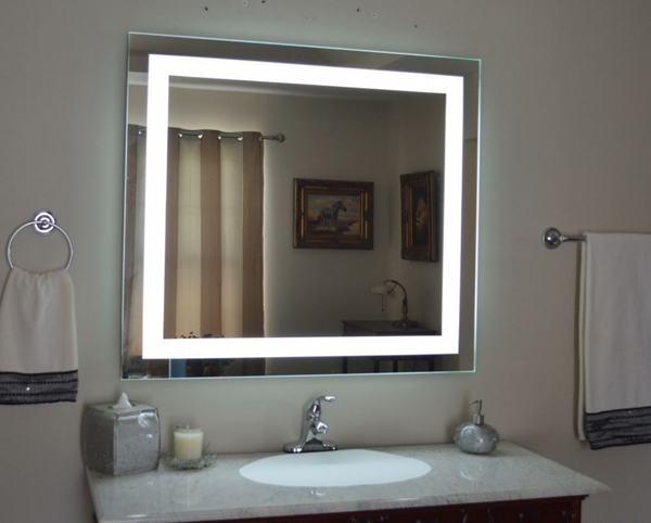 espelho de banheiro com luz