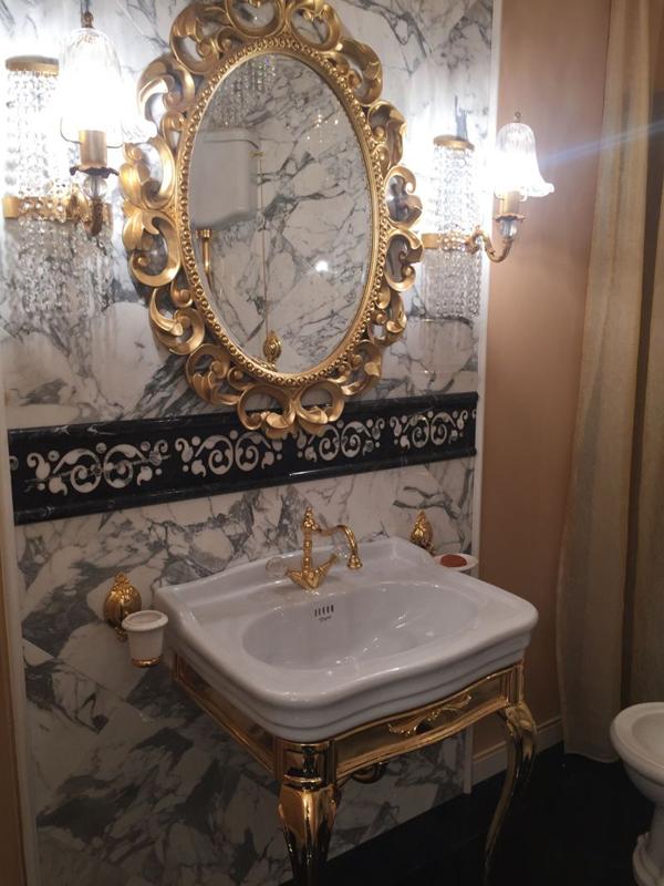 espelho de banheiro elaborado