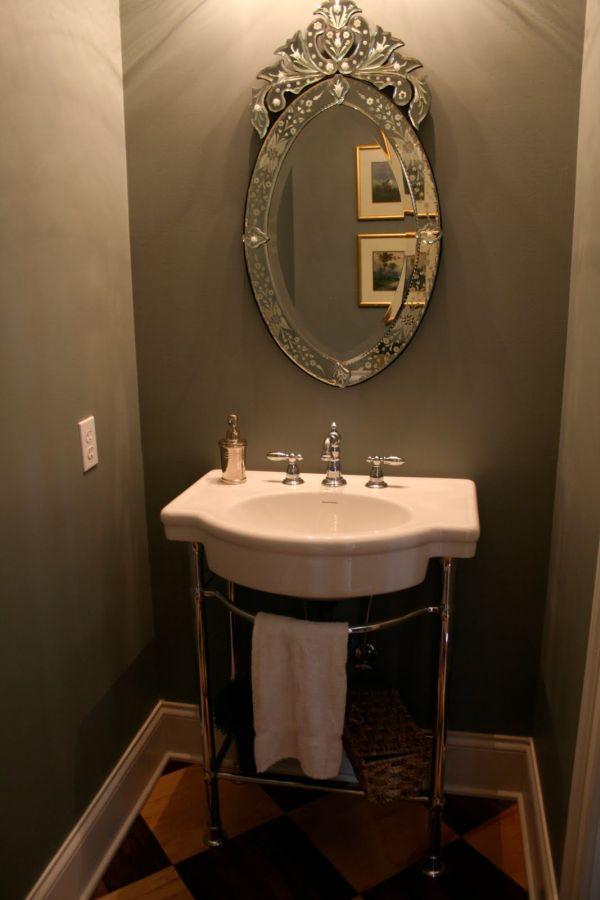 espelho de banheiro retro