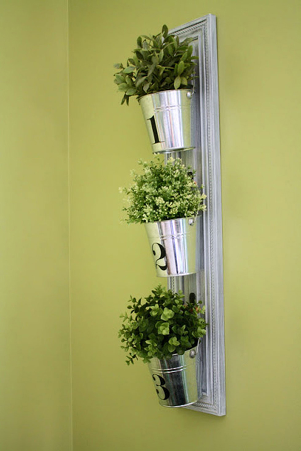 horta vertical balde