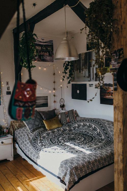 quarto hippie barato