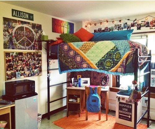 quarto hippie simples