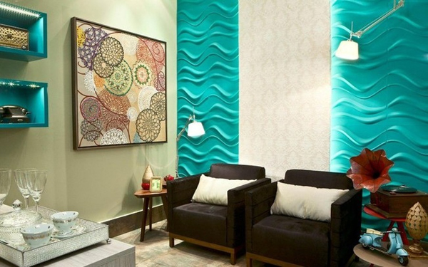 textura de parede turquesa