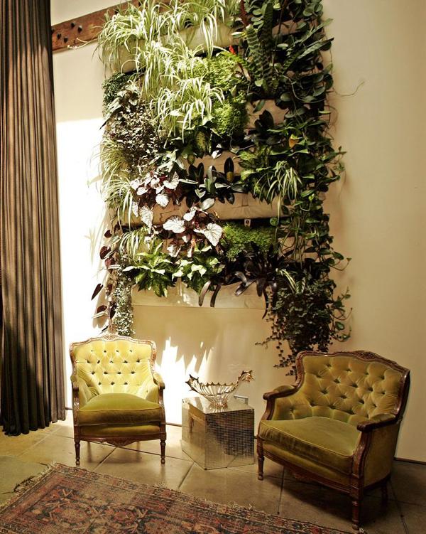 horta vertical com luz