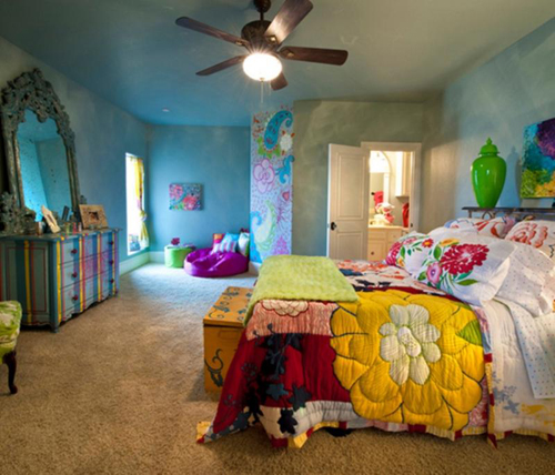 decor quarto hippie