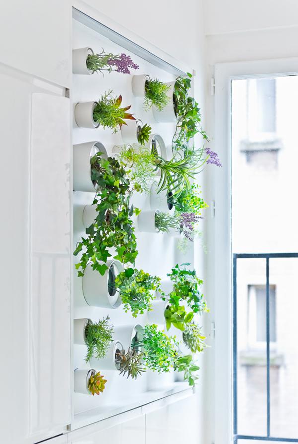 horta vertical com lata