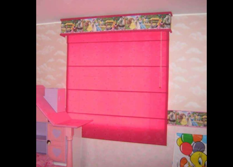 persiana de quarto rosa
