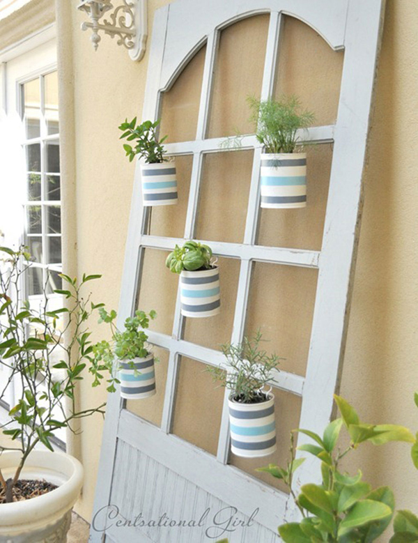 horta vertical na porta