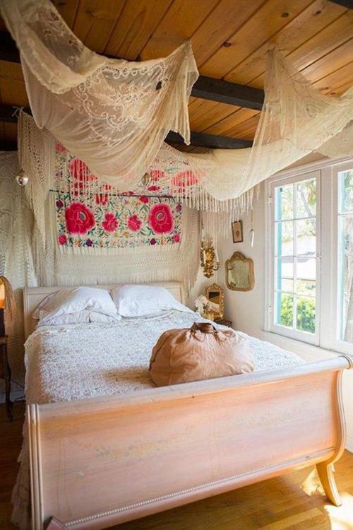 decoração quarto hippie