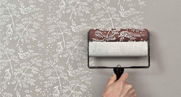 textura de parede rolo