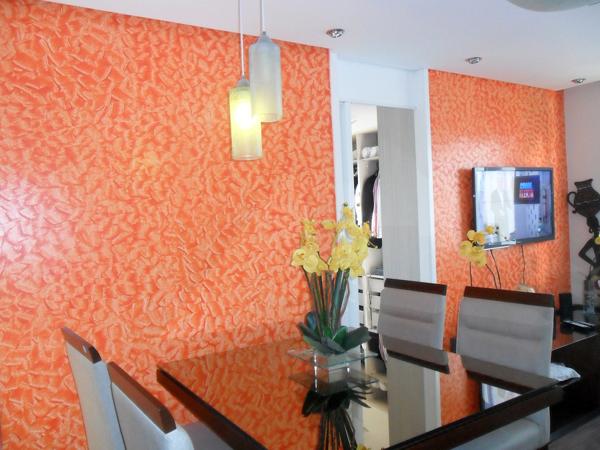 textura de parede laranja