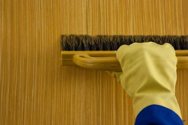 textura de parede com vassoura