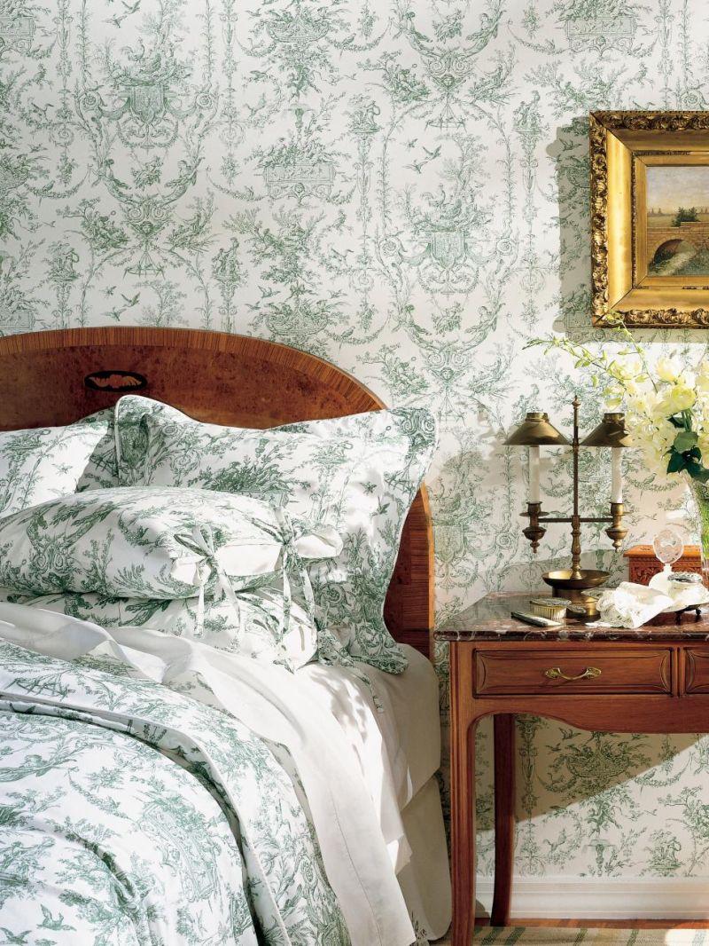 parede com tecido quarto