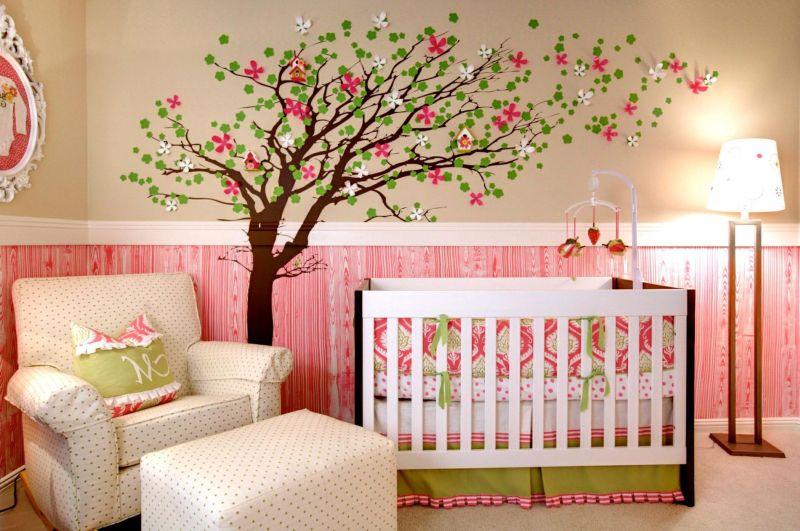 parede com tecido bebe