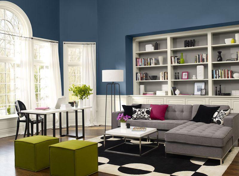 cor para sala azul