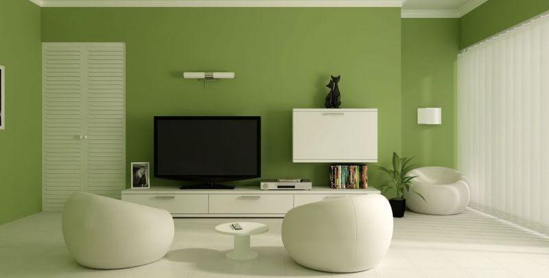 cor para sala verde tv