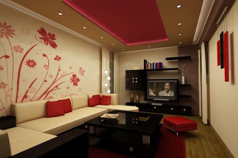 cor para sala vermelha