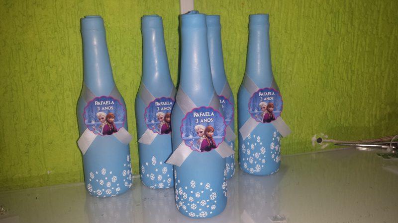 garrafa decorada com bexiga