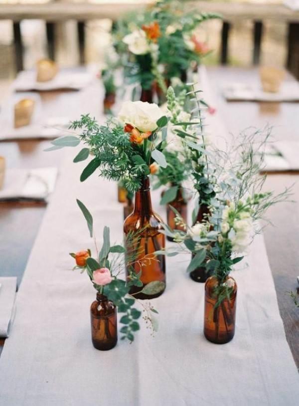 decoração com garrafas de cerveja