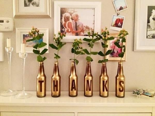 garrafa decorada com letras