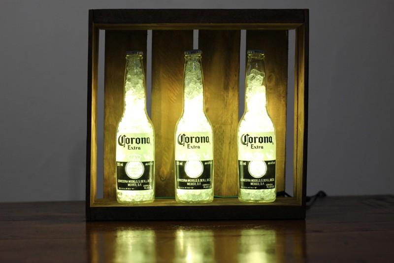como decorar garrafa de cerveja para natal
