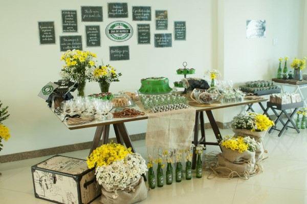 decoração para chá bar rustico