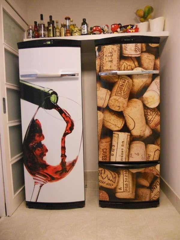adesivo rolhas e vinho