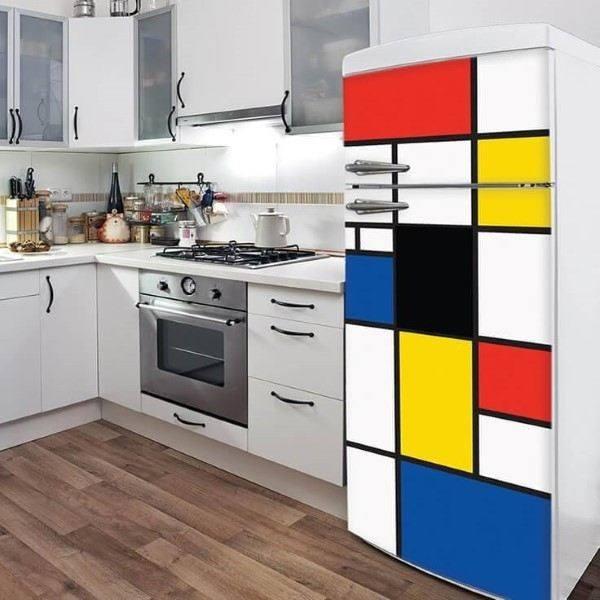envelopamento de geladeira colorido