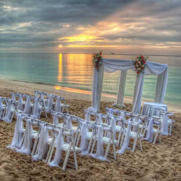 Decoração para casamento minimalista