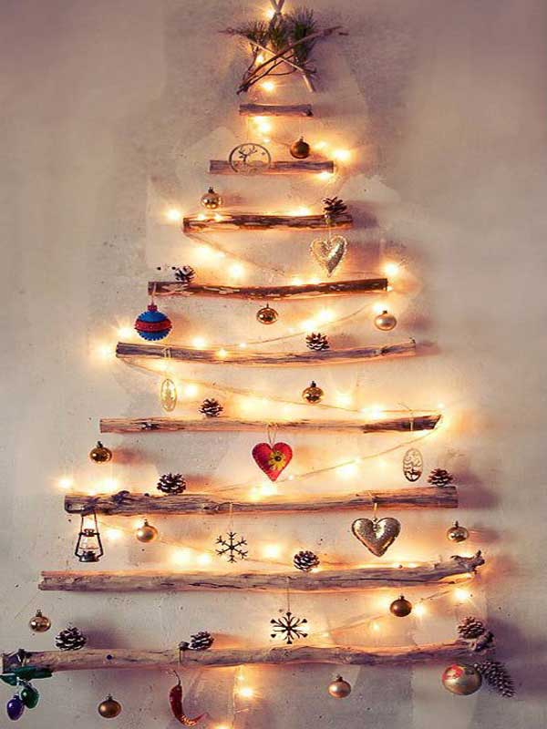 Decoração natalina árvore de galhos