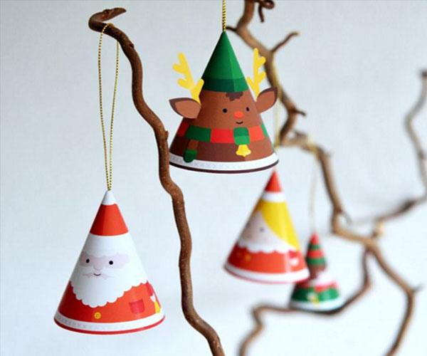 Decoração natalina ornamentos de árvore