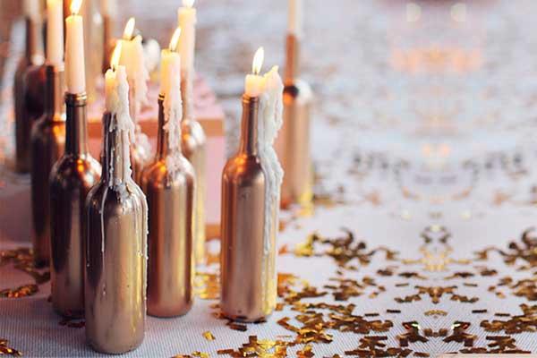 Decoração natalina suporte velas