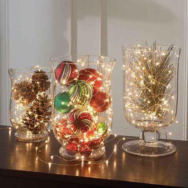 Decoração natalina luminárias