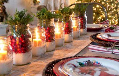 Decoração natalina para mesa