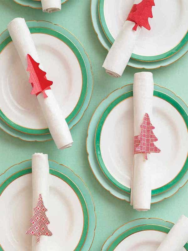 Decoração natalina aneis guardanapo