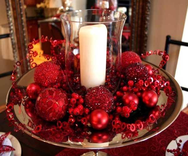 Decoração natalina velas