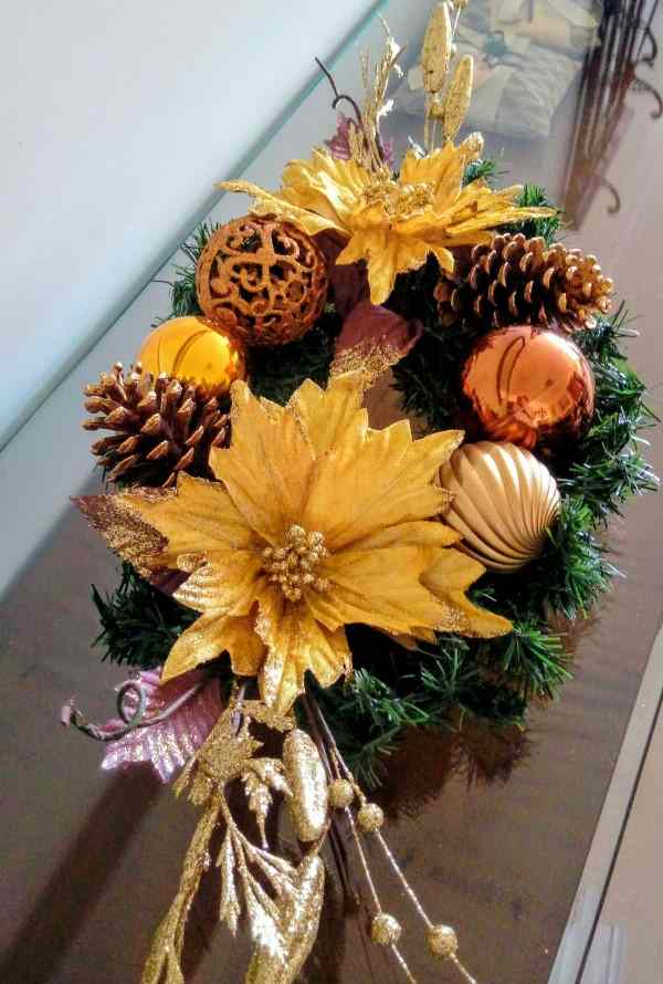 arranjo de mesa flor artificial